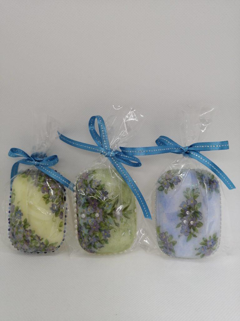 紫陽花&ひまわりデコパージュ🌻 石鹸❣️