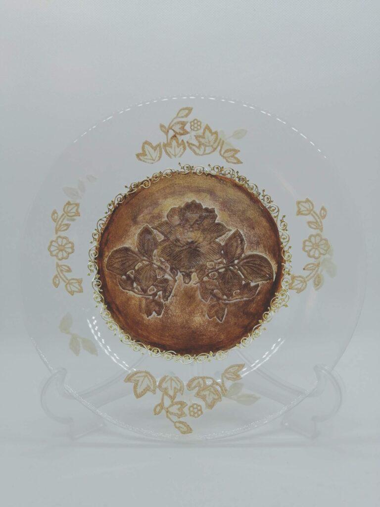 petit kuni🎀レッスンデー❣️(ガラス丸皿ビニール素材デコパージュ)